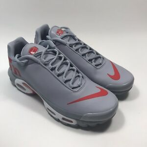 732c1c928300 Nike Air Max Plus TN Mercurial Wolf Grey Red Running Size 10 Men s ...
