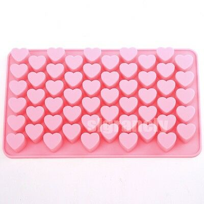 Mini  55 Heart  Ice Cube Tray Chocolate Bread Cake Soap Mold  Silicone Mold
