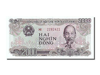 Viet Nam #252887 Unc Km #107a 2000 Dng Xe 2282421 Ideal Gift For All Occasions Hearty 65-70 1988