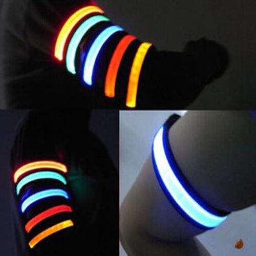 Led Safety Reflective Belt//strap Snap Wrap Arm Band Belt Shine Armbrand LED
