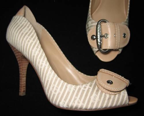 GUESS Beige Logo Escarpins Chaussures Sandales 37.5