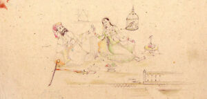 Art Hospitable Super Fine Indian Miniature Art Painting Rajashthani King And Queen Handmade