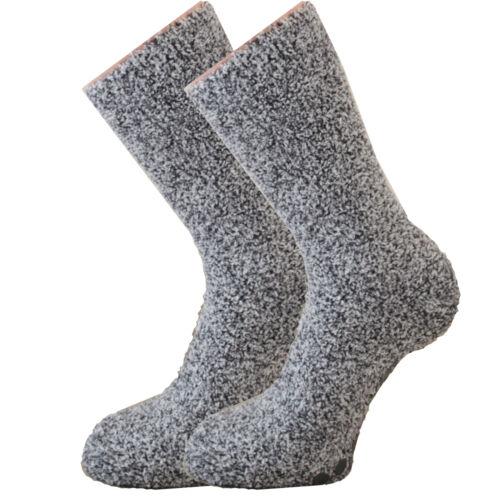 Mens Slipper Gripper Socks Thermal Lounge Non Slip Cosy Warm Soft Winter Fluffy
