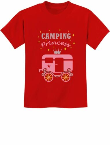 Camping Princess Gift for Girl Camper Camping Youth Kids T-Shirt Novelty