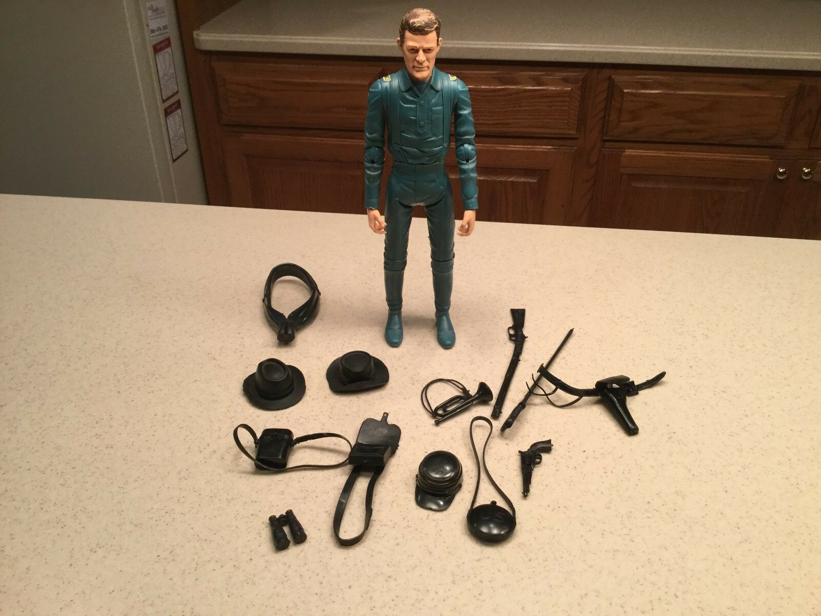 Vintage Louis Marx Captain Maddox Action Figure With Insignias & Accessories