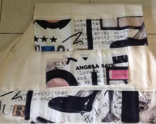 3 Pc.Towel Rug Fashionista Diva Shower Curtain Lips Shoes Makeup Leopard