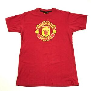 Manchester United Soccer Red Shirt Size S Small Adult Graphic Tee Futball Sports