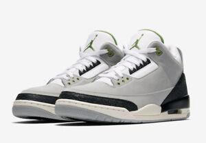 e4cc684cf16 2018 Nike Air Jordan 3 III Retro Chlorophyll Tinker Smoke Grey ...