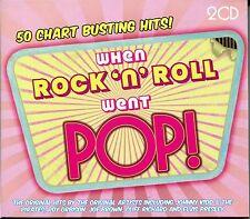 WHEN ROCK 'N' ROLL WENT POP! 2 CD BOX SET - 50 CHART BUSTING HITS