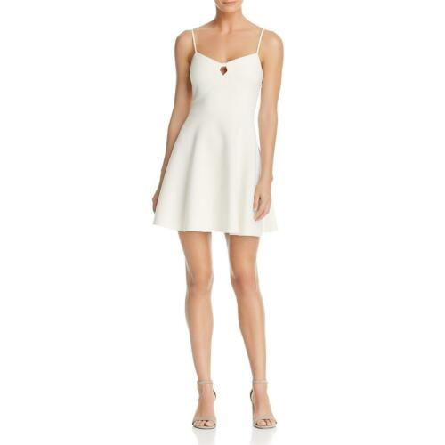 Likely Womens Auburn White Cut-Out Fit /& Flare Mini Cocktail Dress 8 BHFO 5868