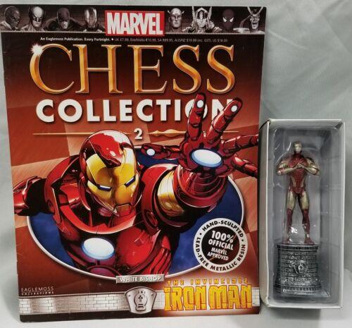 IRON MAN Figurine Marvel Chess Collection Eaglemoss Statue Avengers DAMAGED