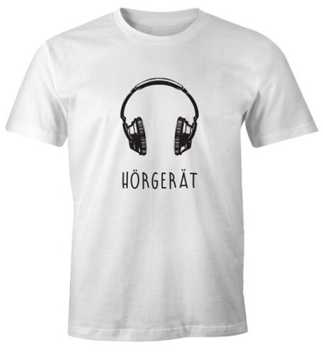T-Shirt Hommes Appareil Auditif Casque Casque Fun-shirt moonworks ®