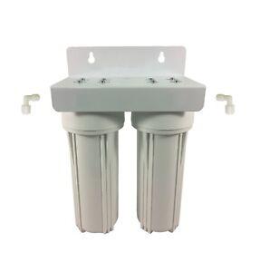 "Twin Undersink Water Filter System 10"" x 2.5"" Housing & Bracket Only"