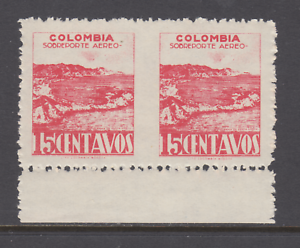 Colombia-Sanabria-166c-MNH-1945-15c-rose-San-Sabastian-Fort-imperf-between-VF