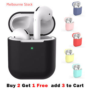 For Apple AirPods Case 1 & 2 LED Visible Silicone Cover Slim Skin Anti Falling