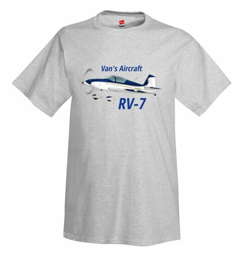 Gold//Blue Van/'s Aircraft RV-7 Airplane T-Shirt Personalized w// Your N#