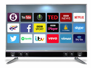 """CELLO PLATINUM 43"""" SMART LED TV ANDROID APP's FREEVIEW HD USB HDMI HD 1080P 5060062267341"""