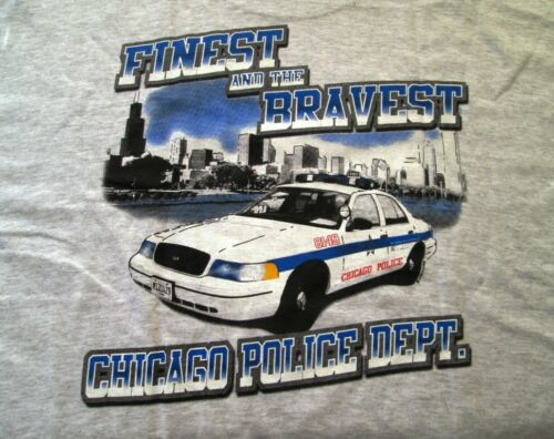 NEW Fruit of the Loom Chicago Police Department Tee Shirt NEW