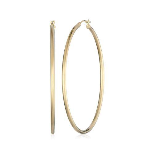 Eternity GOLD 50 mm Classic Tube Boucles d/'oreilles créoles en or 14K