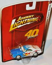 Forty Years R7 - 1967 PONTIAC FIREBIRD - white/blue - 1:64 Johnny Lightning