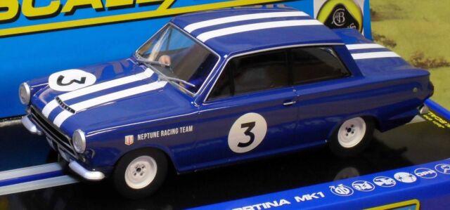 SCALEXTRIC 1/32 SCALE C3210 FORD LOTUS CORTINA MKI, 1964 NEPTUNE RACING, #3, NIB