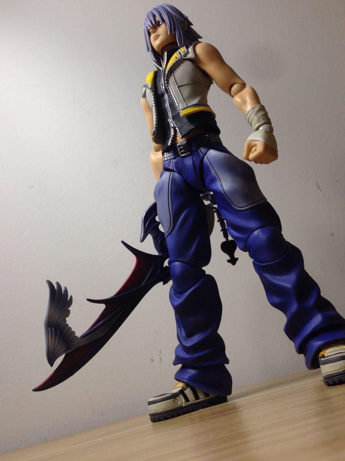 Original Square Enix Play Arts Kai Kingdom Hearts 2 Riku Action Figure(no box)
