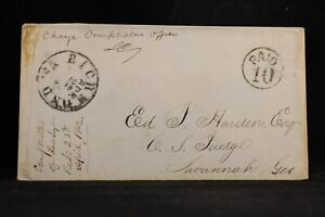 Confederate: Va, Richmond 1862 Stampless Cover, Circled PAID 10, Charge Box