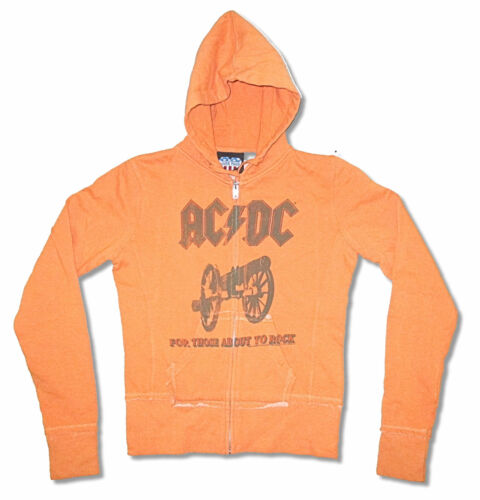 AC//DC Those About to Rock Juniors Girls Zip Up Hoodie Sweatshirt New Official