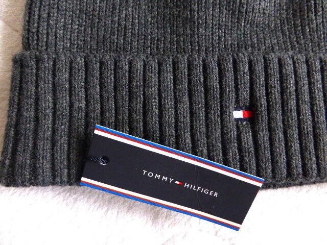 a326ec51ef3 Tommy Hilfiger Dark Grey Pima Cotton   Cashmere Beanie Hat Toque Nes ...
