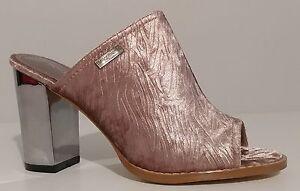 NEW-Henry-Ferrera-Pink-Velvet-Sandals-Mules-3-5-034-Heels-Size-7-5M-US-37-5M-EUR