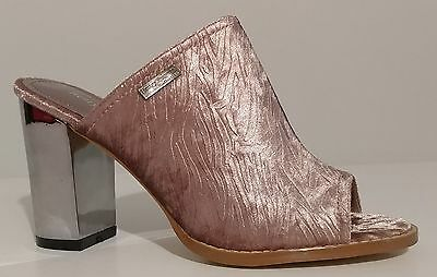 b118398de89 NEW!! Henry Ferrera Pink Velvet Sandals Mules 3.5
