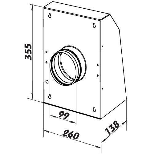 Wandlüfter Außenventilator Industrieventilator Außenwand dalap VIT Ø100mm 252