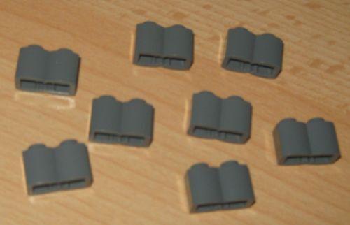 Lego Basic Wellen Steine 1x2 in neu dunkel Grau