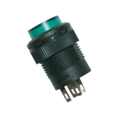 Interruptor de presión aproximadamente interruptor con iluminación 2 polos verde 1xon-off 0035