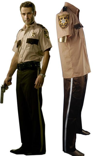 The Walking Dead Rick Grimes Sheriff Uniform Halloween cosplay costume xmas gift  sc 1 st  eBay & The Walking Dead Rick Grimes Sheriff Uniform Halloween Cosplay ...