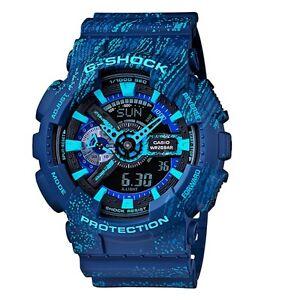 Casio G-Shock *GA110TX-2A Anadigi Graffiti Blue Gshock Watch COD PayPal #crzyj