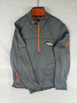 OTS NFL Denver Broncos Mens Fleece 1//4-Zip Pullover Logo Small