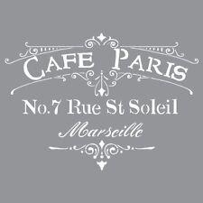 Deco Art Americana Decor Stencil, Cafe Paris Crafts Painting Drawing New Gi