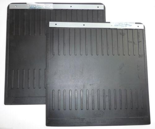 2 coladero schmutzlappen protección contra salpicaduras camiones goma 400x400 mm-nuevo-l202145