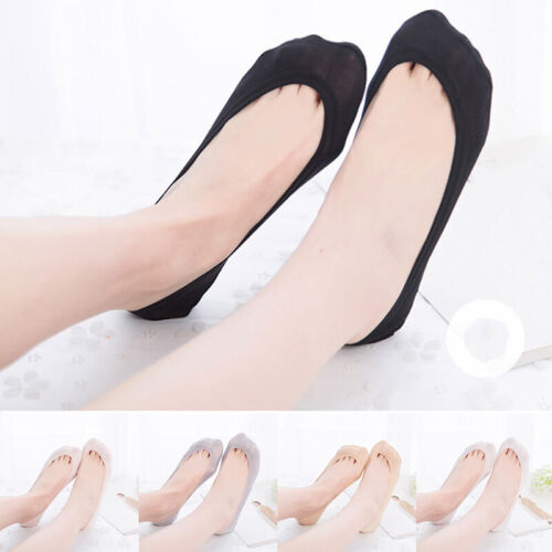 Women Invisible Lace Boat Socks Anti-slip Low Cut Cotton Socks Summer