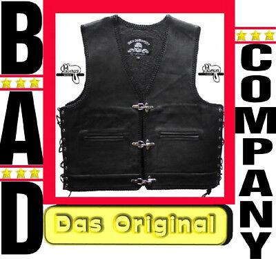 ANARCHY Sons BAD COMPANY  Kutte Lederweste Weste Bikerkutte Rocker Mod of  Billy