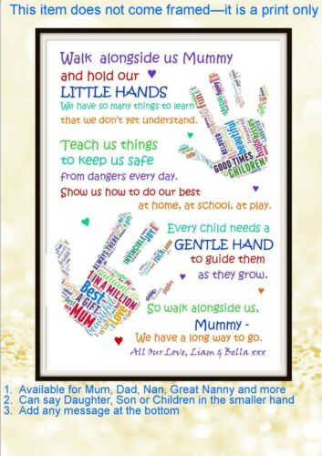 Personalised Children Daughter Son Mum Mom Mummy Dad Poem Day Birthday Walk Gift
