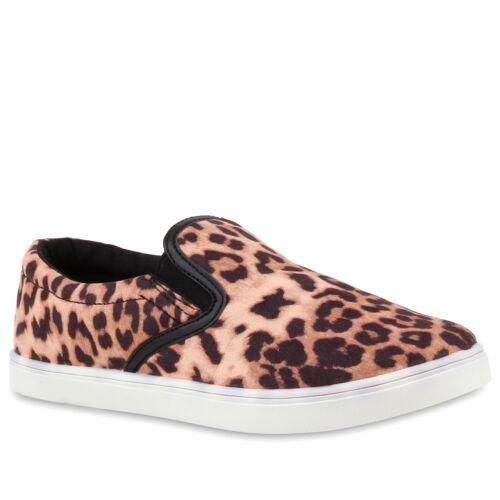Damen Slip-ons Animal Prints Slipper Sneakers Profilsohle 810669 Schuhe