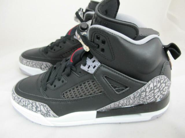 Jordan Spizike Big Kids 317321-034 Black Cement Grey Red Shoes Youth ... cab9292eb