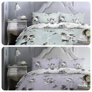Dreams-amp-Drapes-CHARLOTTE-Pastel-Floral-Easy-Care-Duvet-Cover-Set