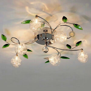 New-G4-Diameter-68CM-Glass-Lamp-Chandelier-6-Lights-Ceiling-Fixtures-Lighting