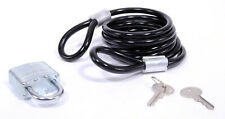 6ft Bicycle Coil Cable with Key Padlock Bike Lock 8mm Transparent