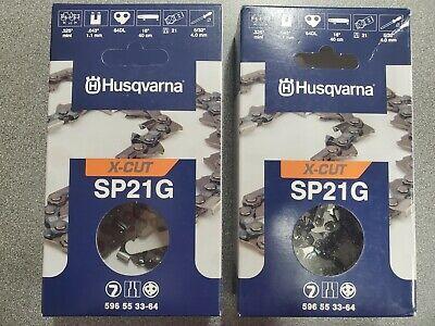 New OEM Husqvarna X-CUT SP21G Chainsaw Chain .325 Mini .043 Gauge 64DL 596553364
