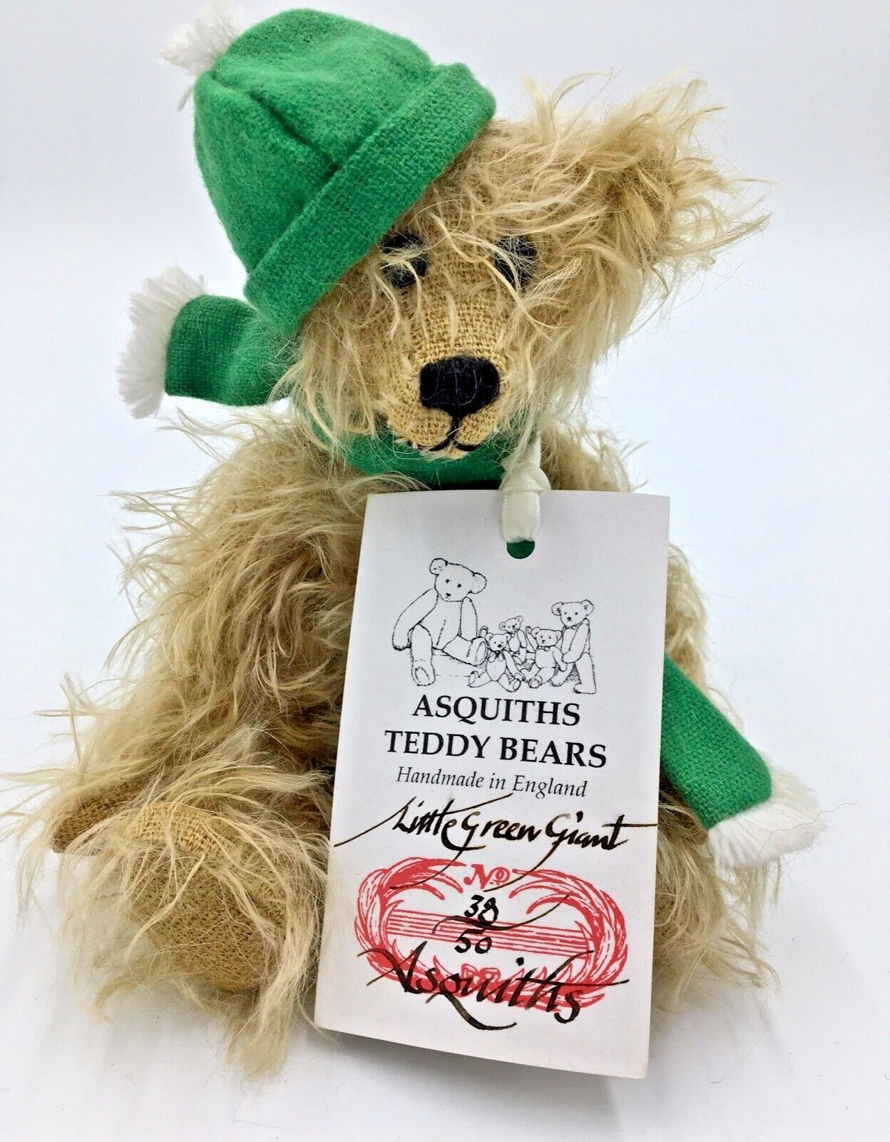 Asquith's da collezione Teddy Bear Little verde Giant LIMITED EDITION VINTAGE