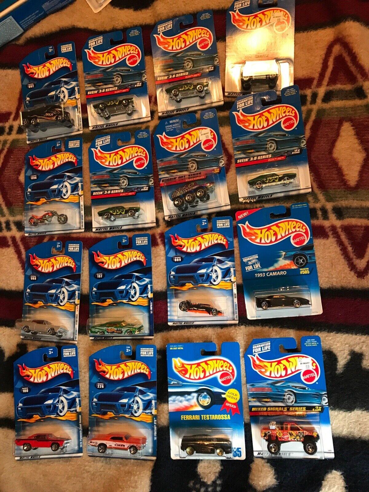 MATTEL HOT WHEELS CARS LOT OF 64 1995 TO 2001 new matchbox